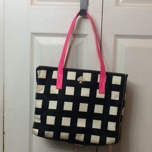 Kate Spade Black and White Checkered Shoulder Bag
